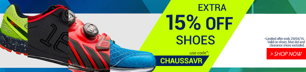 Extra 15% off shoes