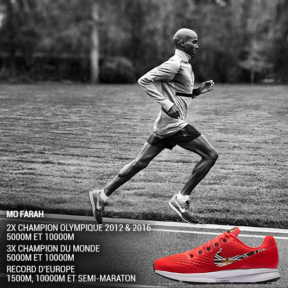 Nike Pegasus 34 Mo Farah Edition limitée