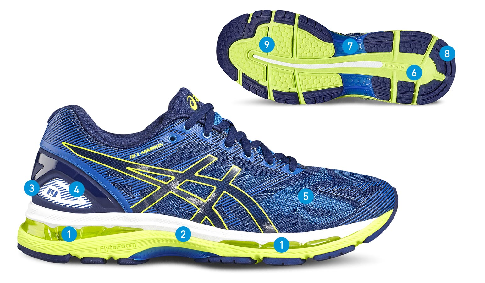 finest selection 3f152 74738 Asics Gel-Nimbus 19 Lite Show Blue Grey Black Women
