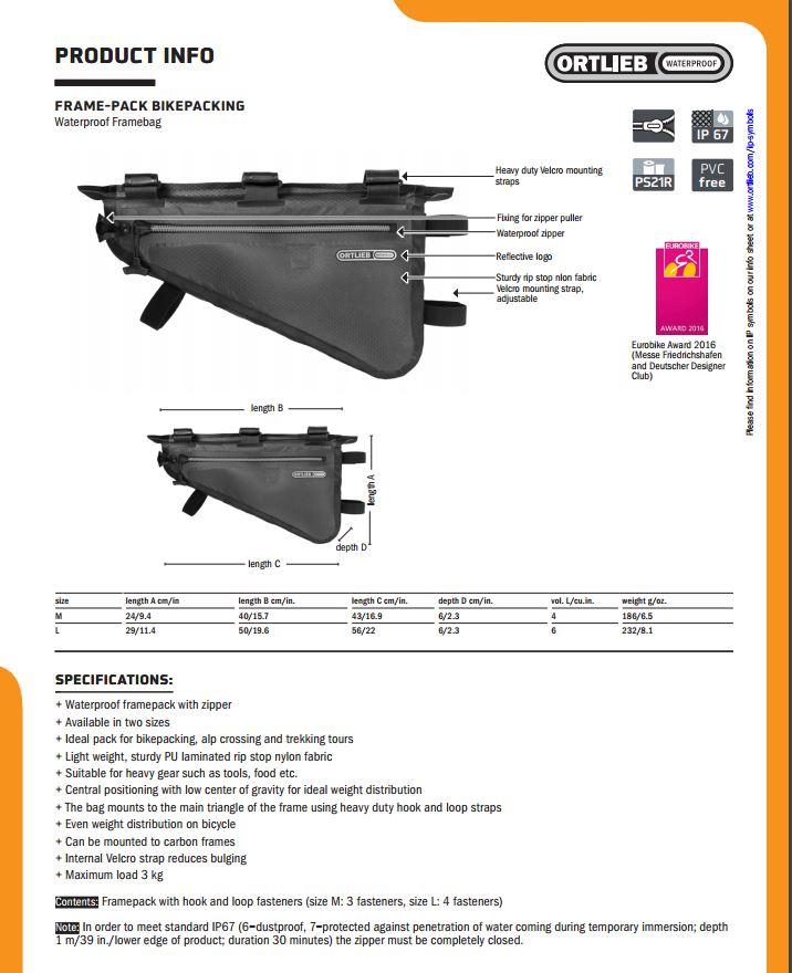 ORTLIEB Rahmen-Pack Grau | Alltricks.de
