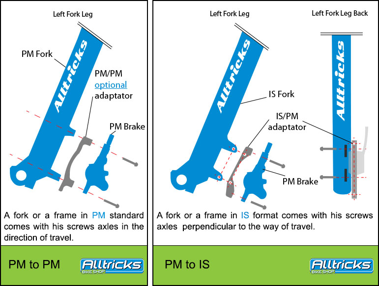 Reverse Disk-Adapter//Brake Adapter IS//PM 180 MM Front//160 rear mm