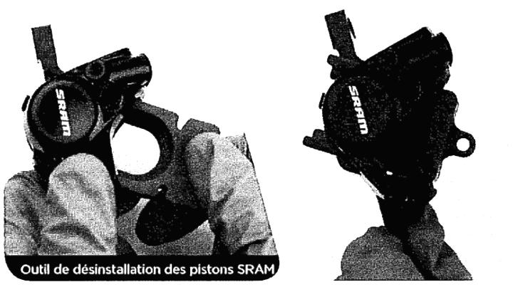 SRAM Piston Removal Tool for 21mm Monoblock Caliper Includes plug and
