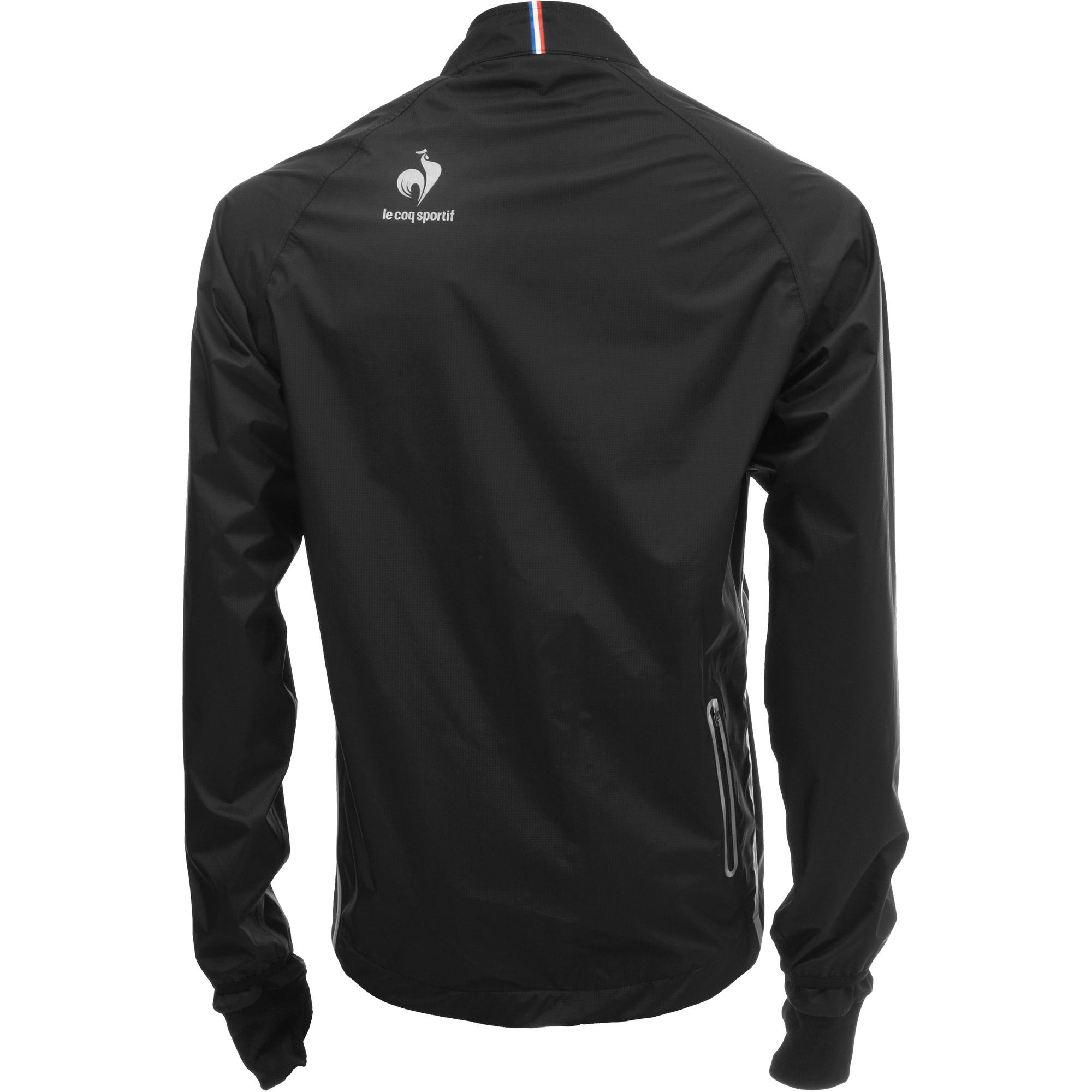 le coq sportif 2014 windproof jacket montech black alltricks. Black Bedroom Furniture Sets. Home Design Ideas