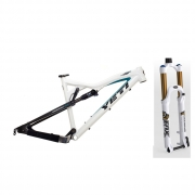 Pack YETI cadre ASR 5 Alu blanc RP 23 KASHIMA Taille M 2011 + FOX 2012 Fourche 32 FLOAT 120 RLC Fit Blanc 15 mm Conique Factory