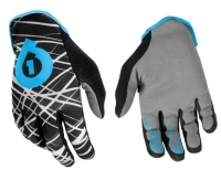 661 SIXSIXONE Paire de Gants REV WIRED 2013 NOIR/CYAN