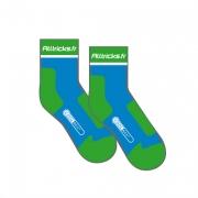 ALLTRICKS 2012 Paire de Chaussettes RACE COOLMAX Bleu / Vert
