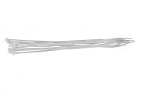 MSC Pack 10 Colliers de Serrage Rislant Plastique 203 x 2.5mm BLANC