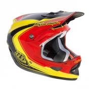 TROY LEE DESIGN 2013 Casque D3 MIRAGE Carbone Rouge Jaune