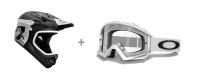 661 SIXSIXONE 2013 Casque COMP SHIFTED Noir Mate Taille M + OAKLEY Masque Proven Matte White clear Ref 01-721
