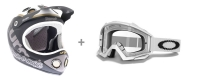 URGE 2013 Casque DOWN-O-MATIC Brat Noir mat Taille L/XL + OAKLEY Masque Proven Matte White clear Ref 01-721