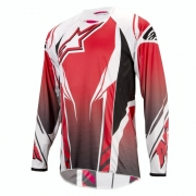 ALPINESTARS Maillot Manches Longues A-LINE Blanc Rouge