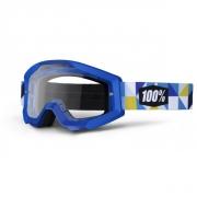100% Masque STRATA Frisbee Bleu écran transparent