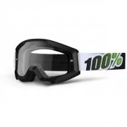 100% Masque STRATA Noir Vert écran transparent