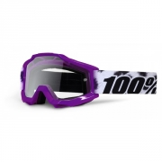 100% Masque ACCURI JUNIOR Cheetah Violet écran transparent
