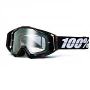 100% Masque RACECRAFT Racing Tuxedo écran transparent