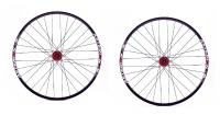 ASTERION Paire de roues ESP 29'' Axe 15 mm Rouge