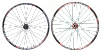 ASTERION 2013 Paire de roues FLOW EX 27.5'' axes 15 mm / 9 mm Noir