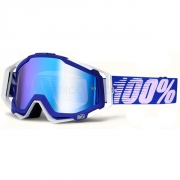 100% Masque RACECRAFT  Bleu Blanc écran miroir Bleu