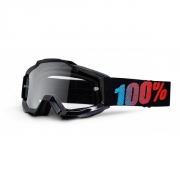 100% Masque ACCURI JUNIOR Noir écran transparent