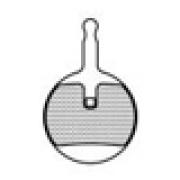 ASHIMA Paire de Plaquettes Avid BB5 mécanique Semi Métalliques