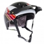 URGE Casque ENDUR-O-MATIC Scrambler Noir/Blanc/Rouge